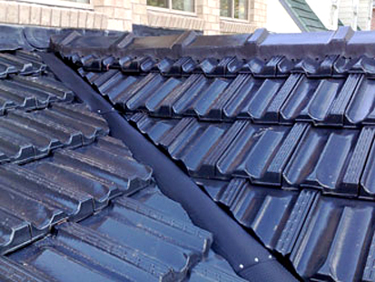 Gutter & Valley Guard Raised Tile Roof.