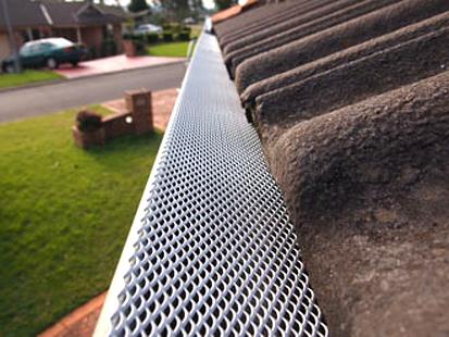Gutter Guard Cement Tile Roof.